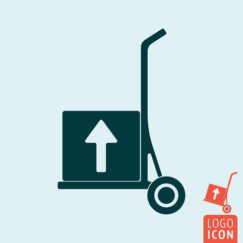 Trolley-Symbol isoliert vektor