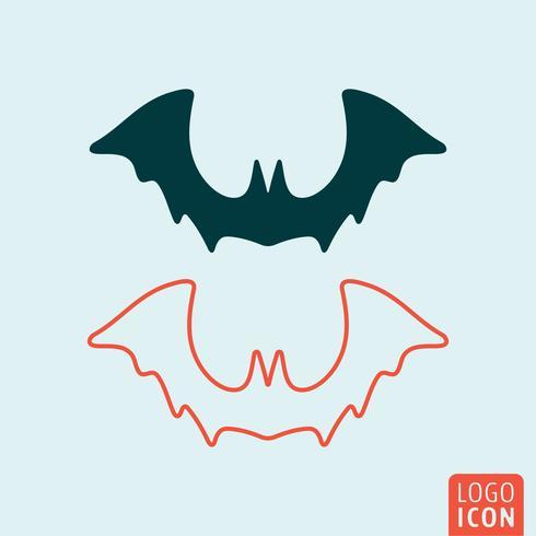 Fledermaus Halloween-Symbol vektor