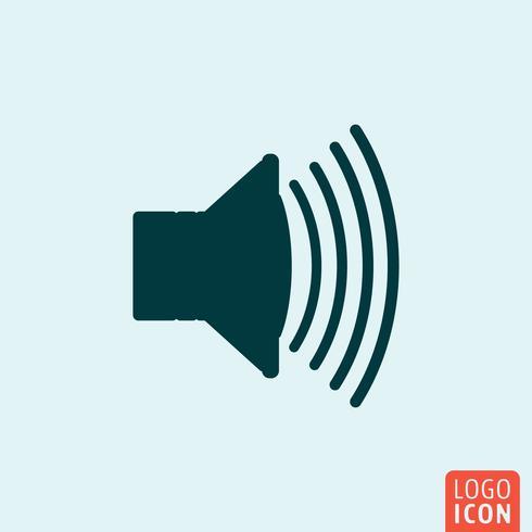 Lautsprecher Symbol minimalistisches Design vektor