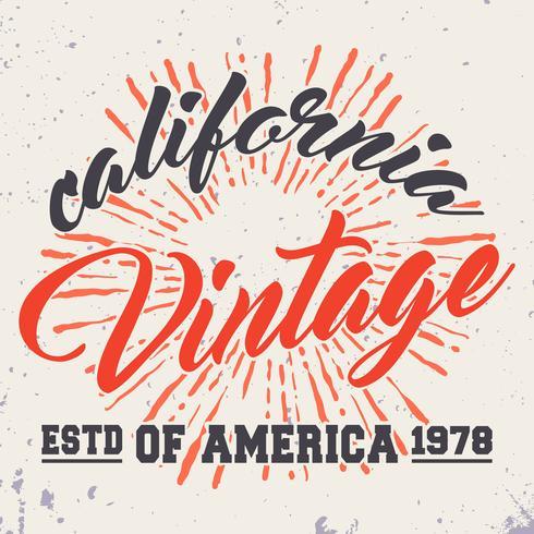 Kalifornien vintage frimärke vektor
