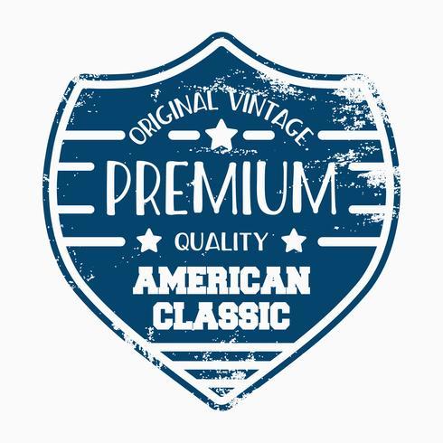 Sköld vintage frimärke vektor