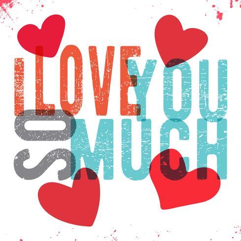 Ich liebe dich über alles vektor