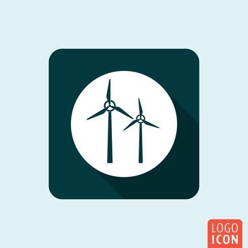 isolerad väderkvarn ikon vektor