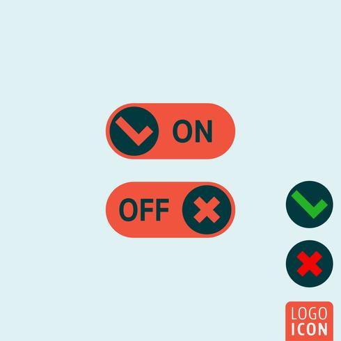 På av knappar vektor