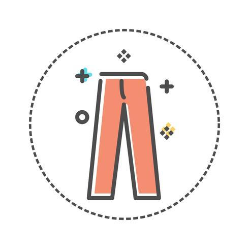 Wäschereiikonen in der flachen Farbart. Vektor-illustration vektor