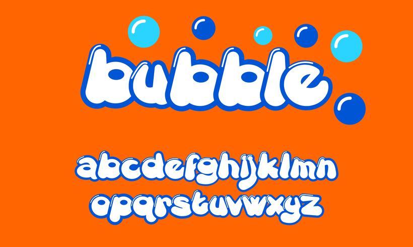bubbla anpassad typsnitt vektor