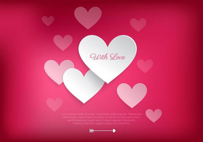 Älskande hjärta Valentine Vector Bakgrund