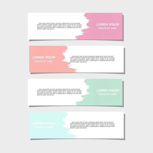 Vektor abstrakt geometrisk design banner webbmall