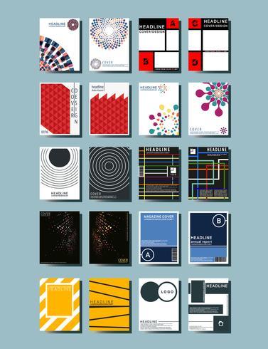 Omslag broschyrer mall vektor