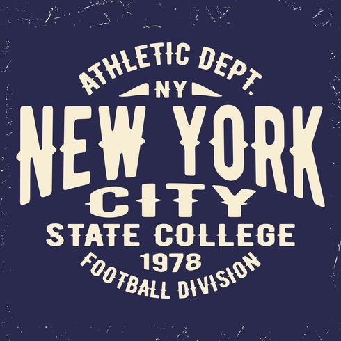 New York vintage frimärke vektor