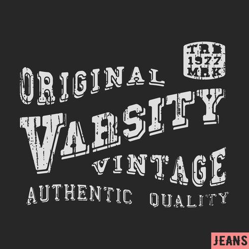 T-shirt tryckdesign vektor