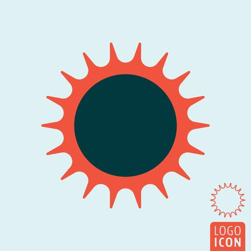 Sun-Symbol isoliert vektor