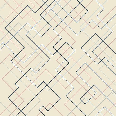 Dünne lineare quadratische Form des abstrakten geometrischen Musters und Rechteckhintergrund. Sauberes Design für Stofftapeten, Umschlagbroschüren, Poster, Bannernetz usw. vektor