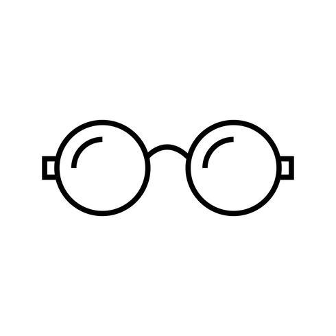 Brillen Linie schwarze Ikone vektor