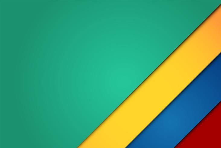 Realistische rote, grüne, blaue und gelbe Blätter vektor