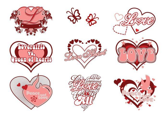 Liebe und Herz Vector Pack
