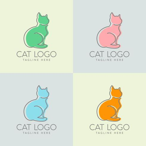 einfacher Katzenlogoentwurf vektor