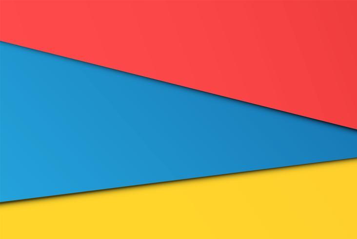 Realistiska färgglada ark av papper, vektor illustration