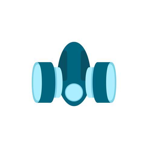 Säkerhetsmask platt ikon vektor