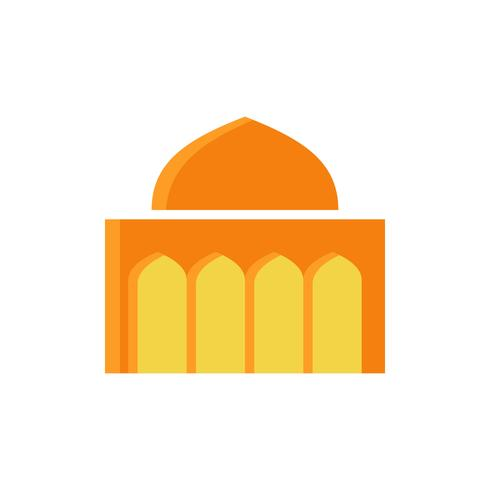 Moschee flache Symbol. Ramadan Kareem vektor