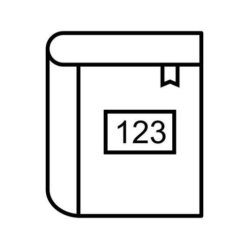 Mathematikbuch Schöne Linie schwarze Ikone vektor