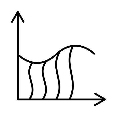 Integral Schöne Linie schwarze Ikone vektor