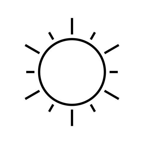 Sonnenlinie schwarze Ikone vektor