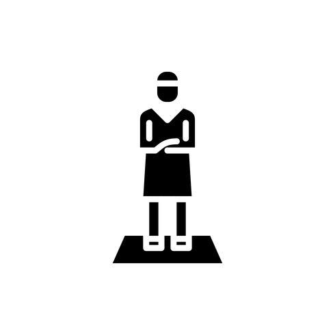 muslimischer Mann Gebet Glyphe Symbol. Ramadan Kareem vektor