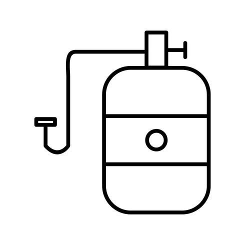 Zylinder Schöne Linie schwarze Ikone vektor