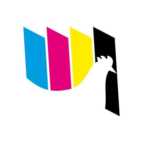 Malerei drucken Logo-Symbol vektor