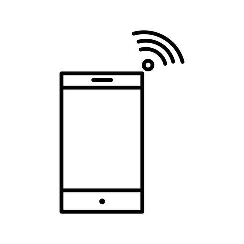 Wifi-Verbindung Linie schwarzes Symbol vektor