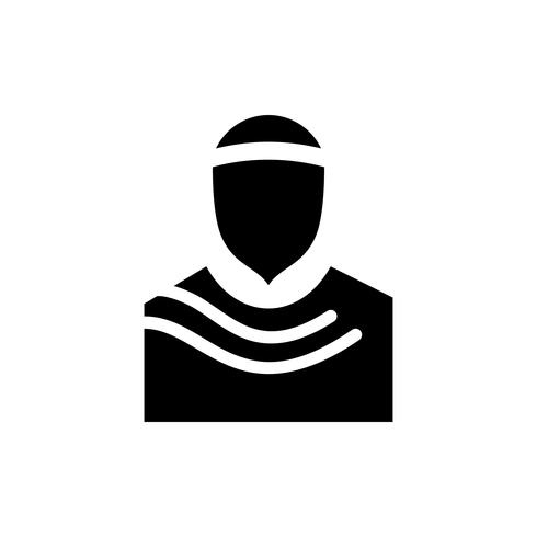 Muslimische Symbol Glyphe. Ramadan Kareem vektor