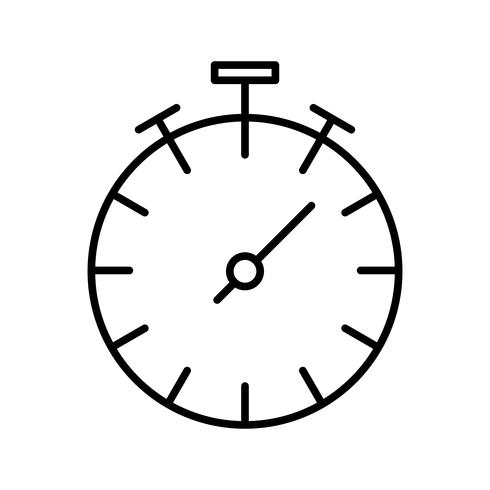 Stoppuhr Linie schwarzes Symbol vektor