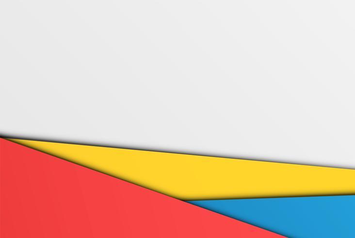 Realistische bunte Blätter Papier, Vektorillustration vektor