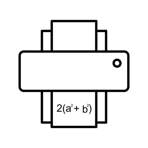 Mathebogen drucken Schöne Linie schwarze Ikone vektor