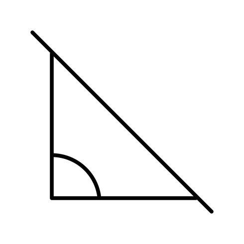 Winkel Schöne Linie schwarze Ikone vektor