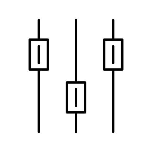 Volymkontroll Linje svart ikon vektor