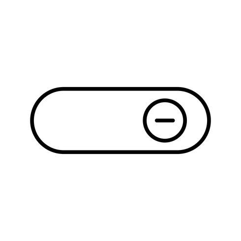 Slå på svart ikon för rad vektor