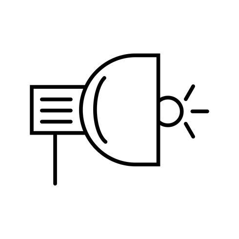 spotlight linje svart ikon vektor