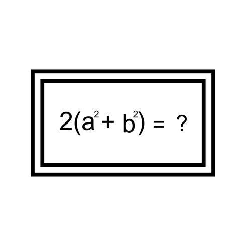 Lösung der Formel Schöne Linie schwarze Ikone vektor