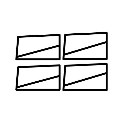 Windows-Linie schwarze Ikone vektor