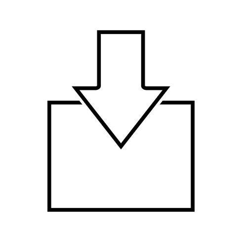Eingehende Linie schwarzes Symbol vektor