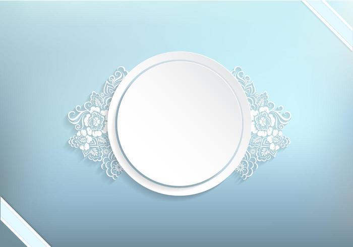 Winter-blauer Blumenfahnen-Vektor-Hintergrund vektor
