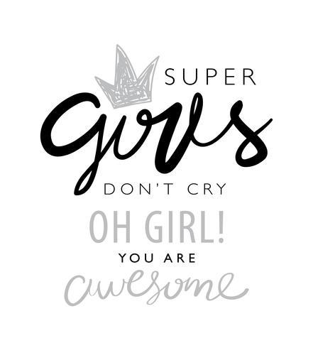 Inspirierendes Zitat über Mädchen vektor
