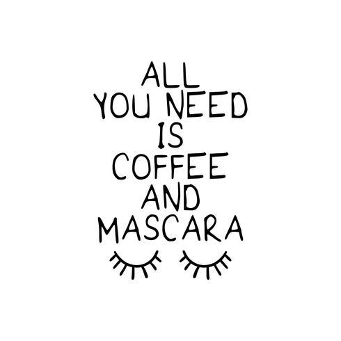 Lustiges Zitat über Kaffee vektor