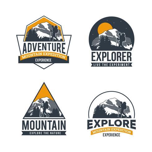 Entdecken Sie die Adventure Logo Collection vektor