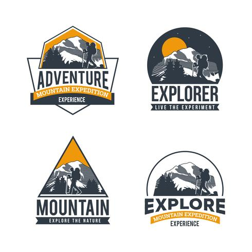 Utforska Adventure Logo Collection vektor
