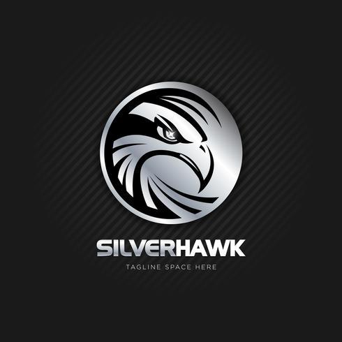 Silbernes Adler-Logo vektor