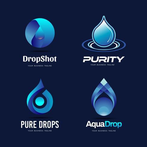droppar logotyp design vektor