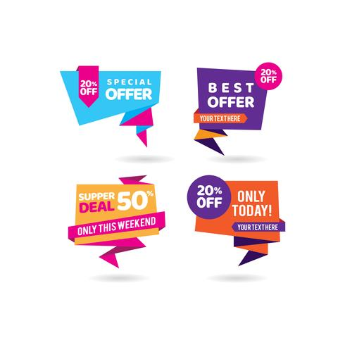 Super Deal Tags Promotion Business Banner Vorlage vektor